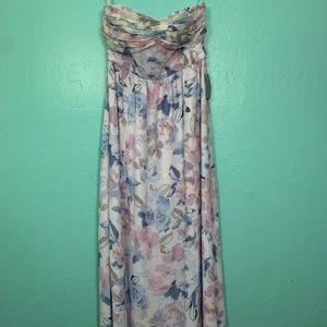Plum pretty sugar maxi floral tube top dress